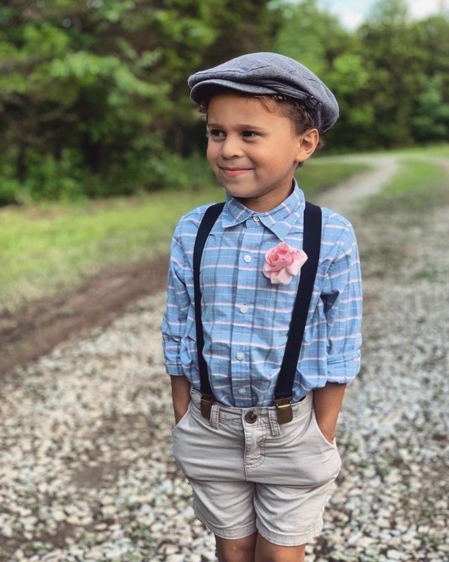 Lil' mans first wedding... stylin' and profilin'