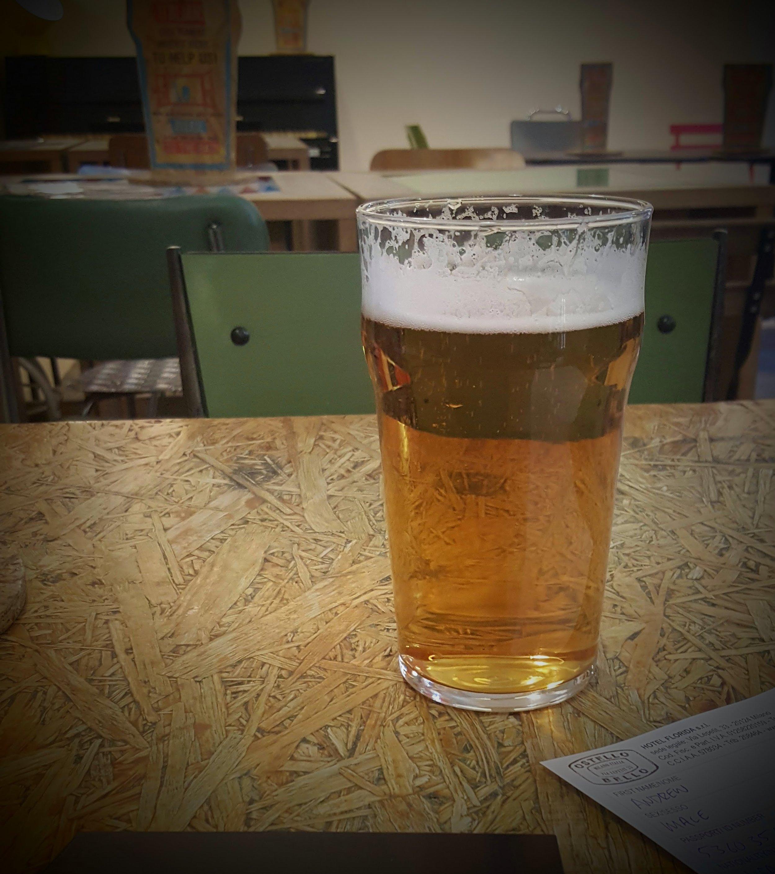 Welcome beer :)