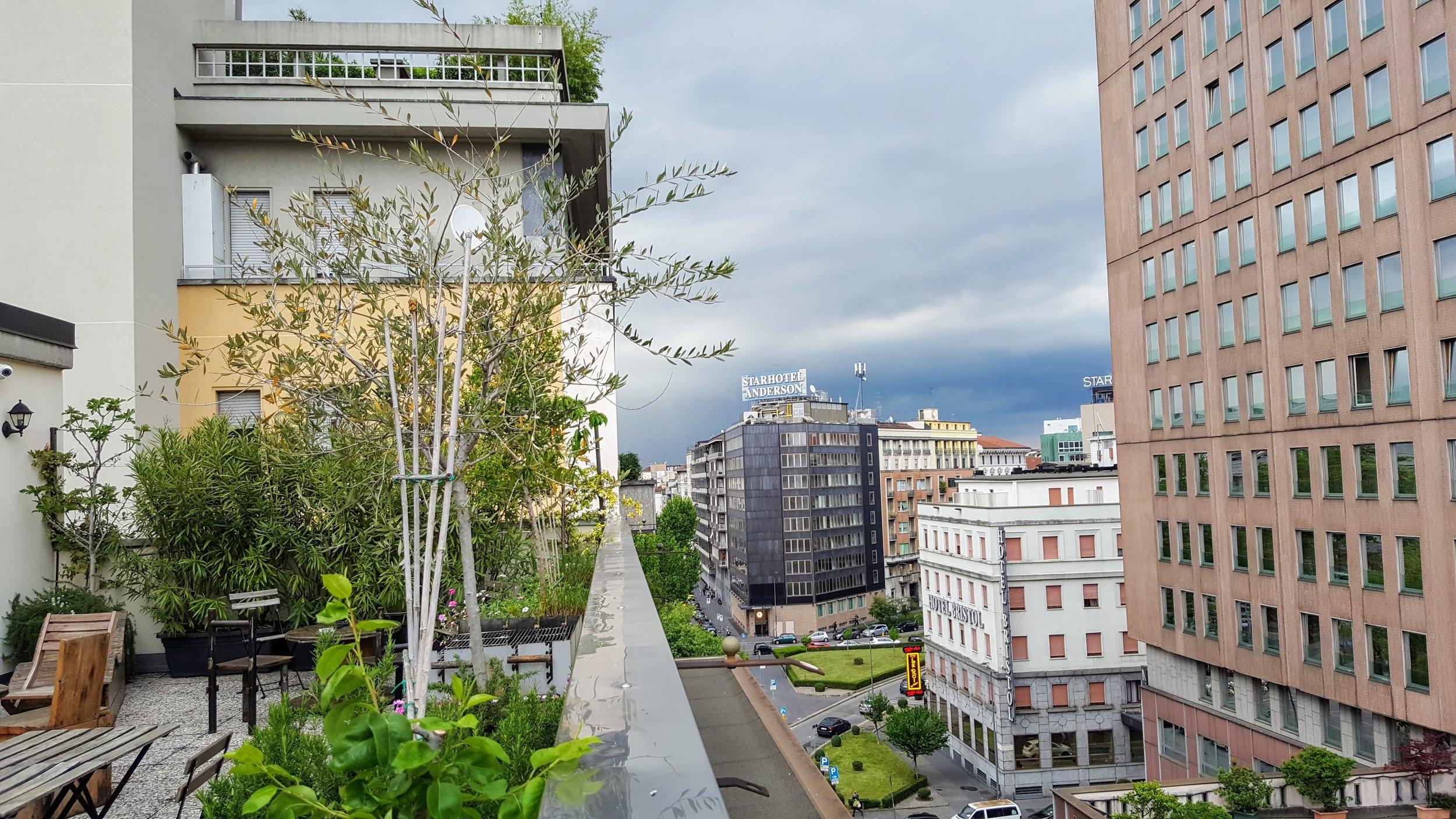 Rooftop terrace at Ostello Bello Grande