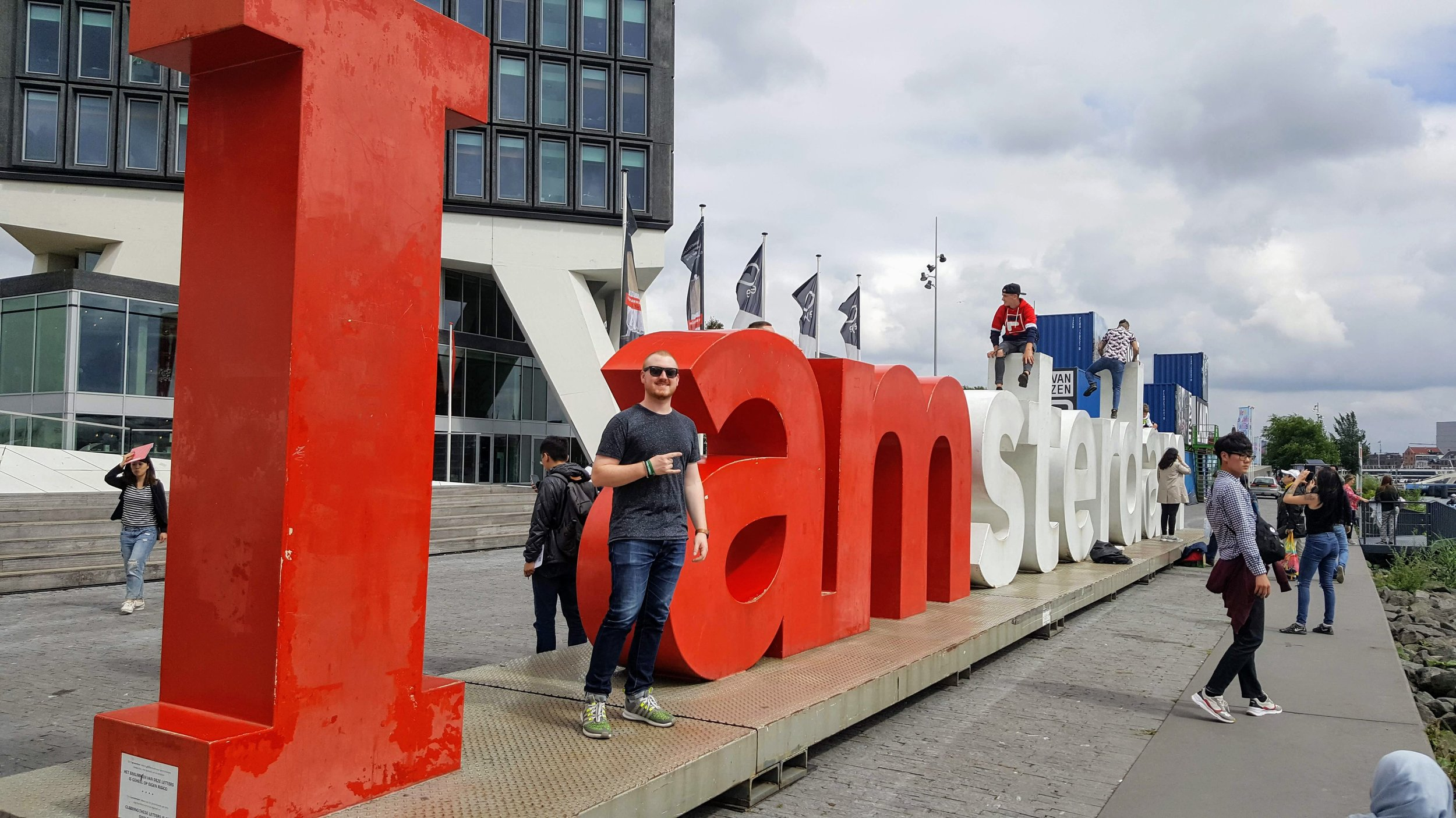 'I Amsterdam' in front of A'DAM Lookout