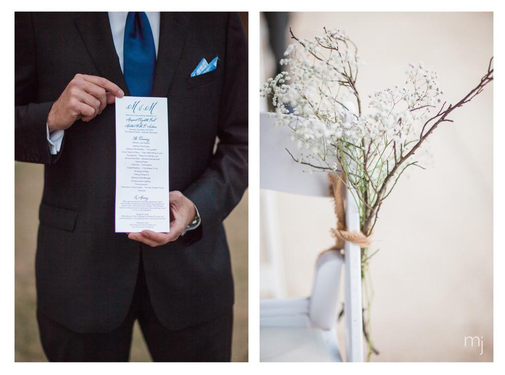 mississippi-starkville-hewlett-barn-boston-destination-wedding-photographer-ceremony-program-babys-breath-photo