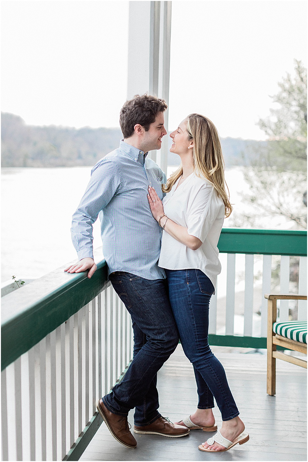 Beautiful Potomac Boat Club DC Cherry Blossom Engagement Session
