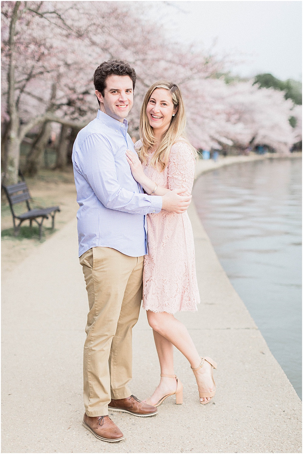 DC Cherry Blossom Engagement During the Festival at Sunrise