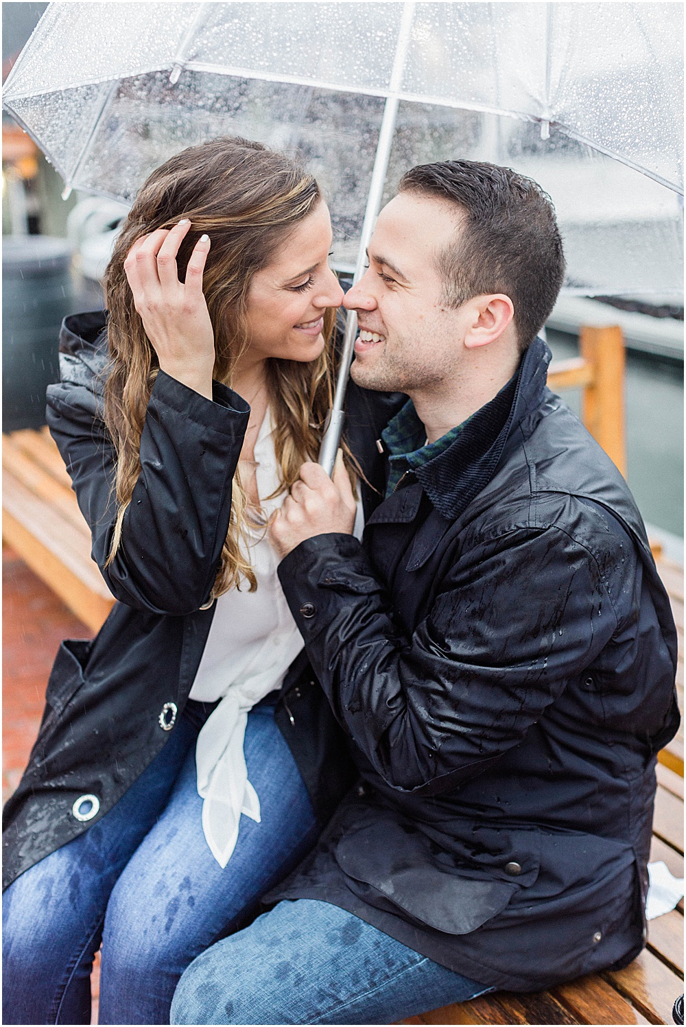 A Rainy Newport Engagement Session | Meredith Jane Photography