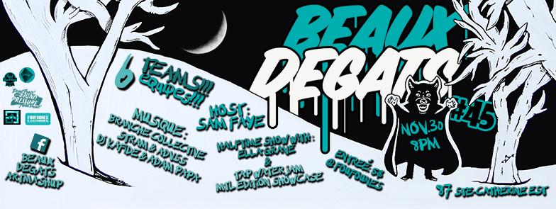 Beaux Dégâts #45 - Tap Water Jam MTL + Ella Grave showcase