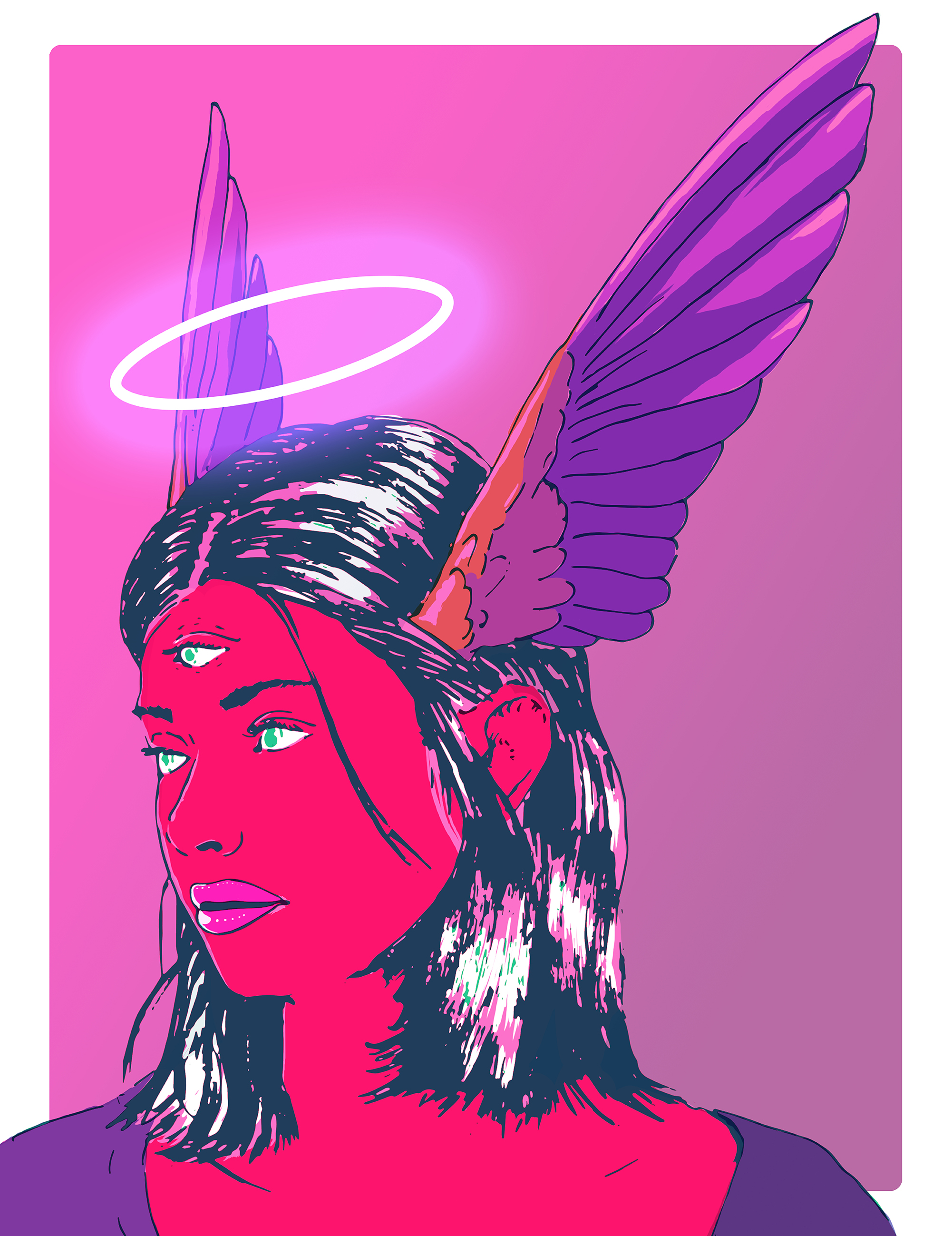 """VALKYRIE"" PRINT - - Gallery quality Giclée print- Natural white, matte, ultra smooth background- 100% cotton, acid and lignin-free archival paper- Epson K3 archival inks for high-quality print-Custom trimmed with 1"" border for framing"
