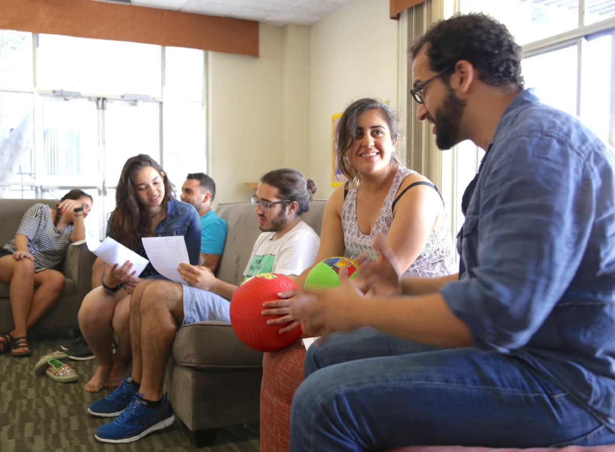 Volunteers at training retreat for IAAB's Summer Leadership Institute, 2016