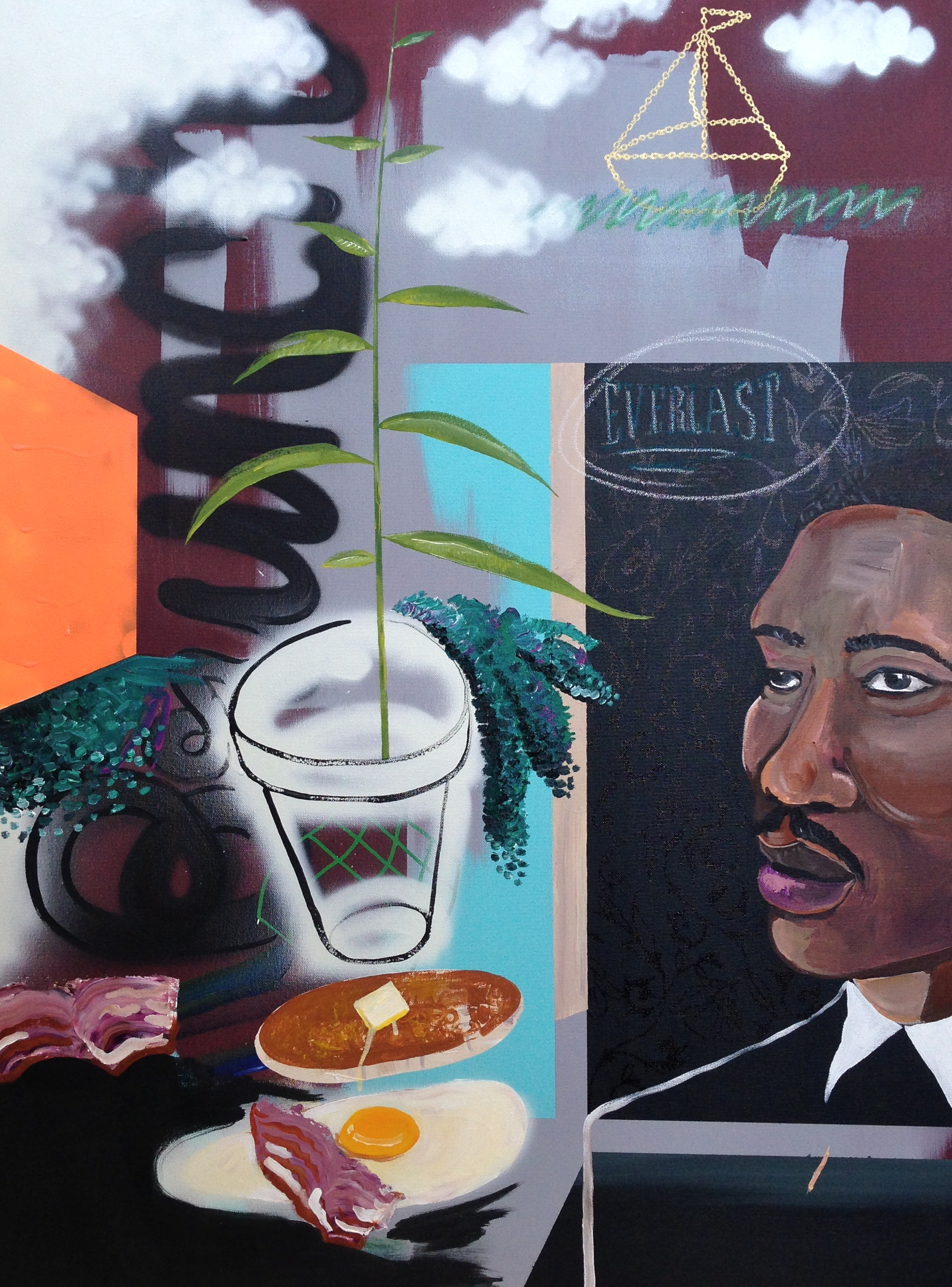 Warm/Brunch (diptych)  acrylic on canvas  30 x 40  2014