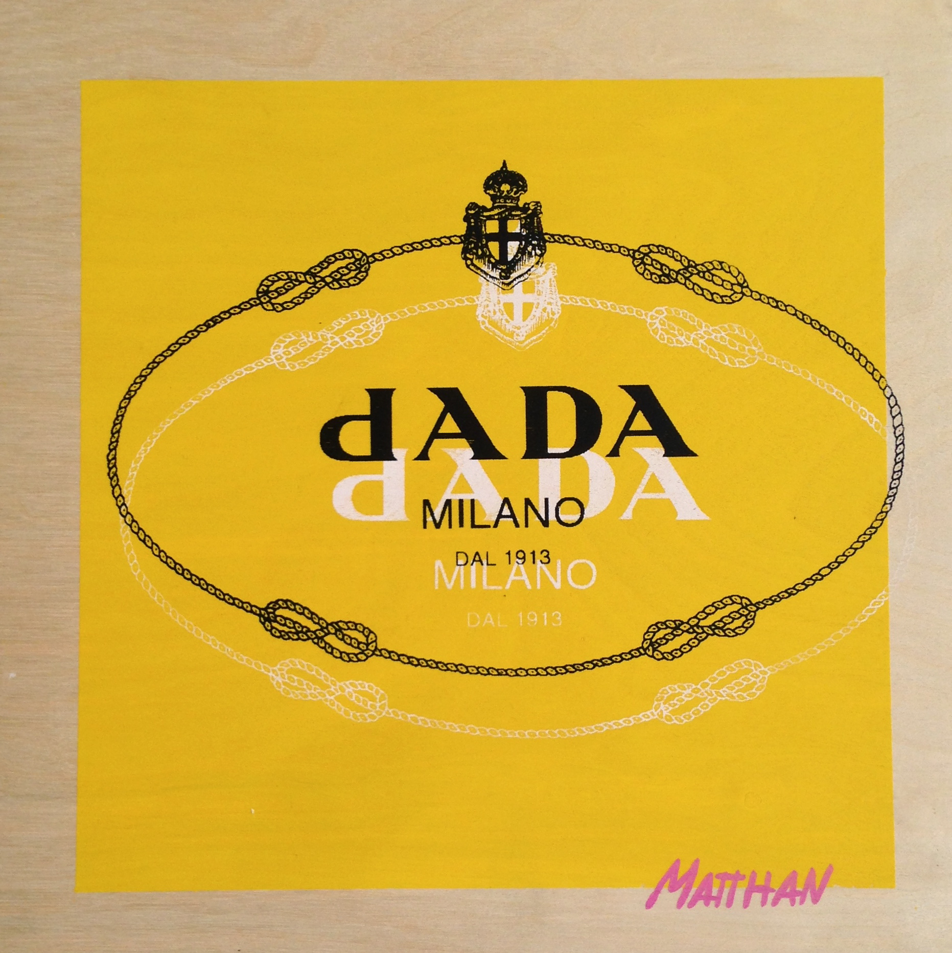 Dada or Nada  screenprint on panel  12 x 12  2013