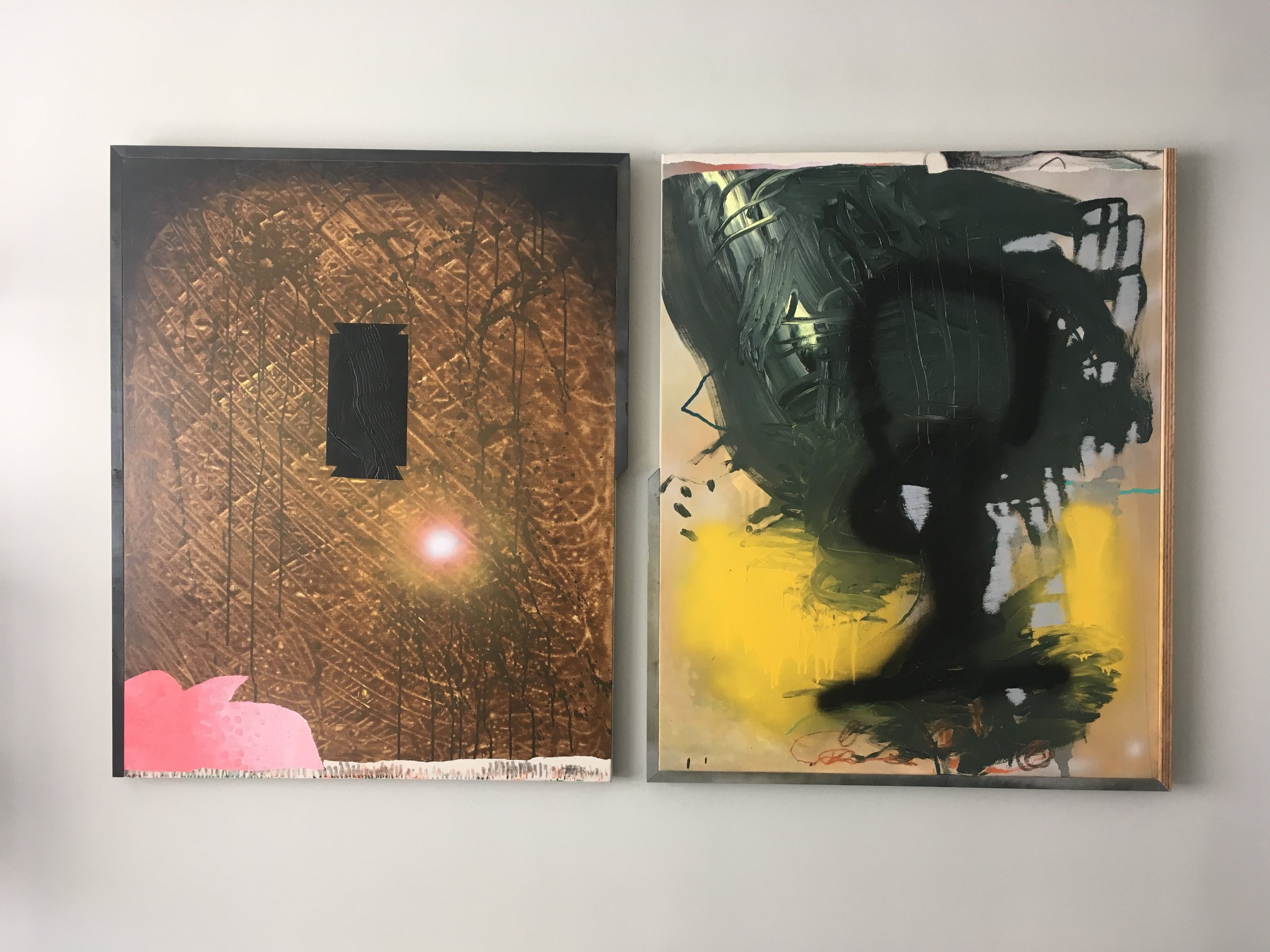 Untitled I & II (site specific diptych)