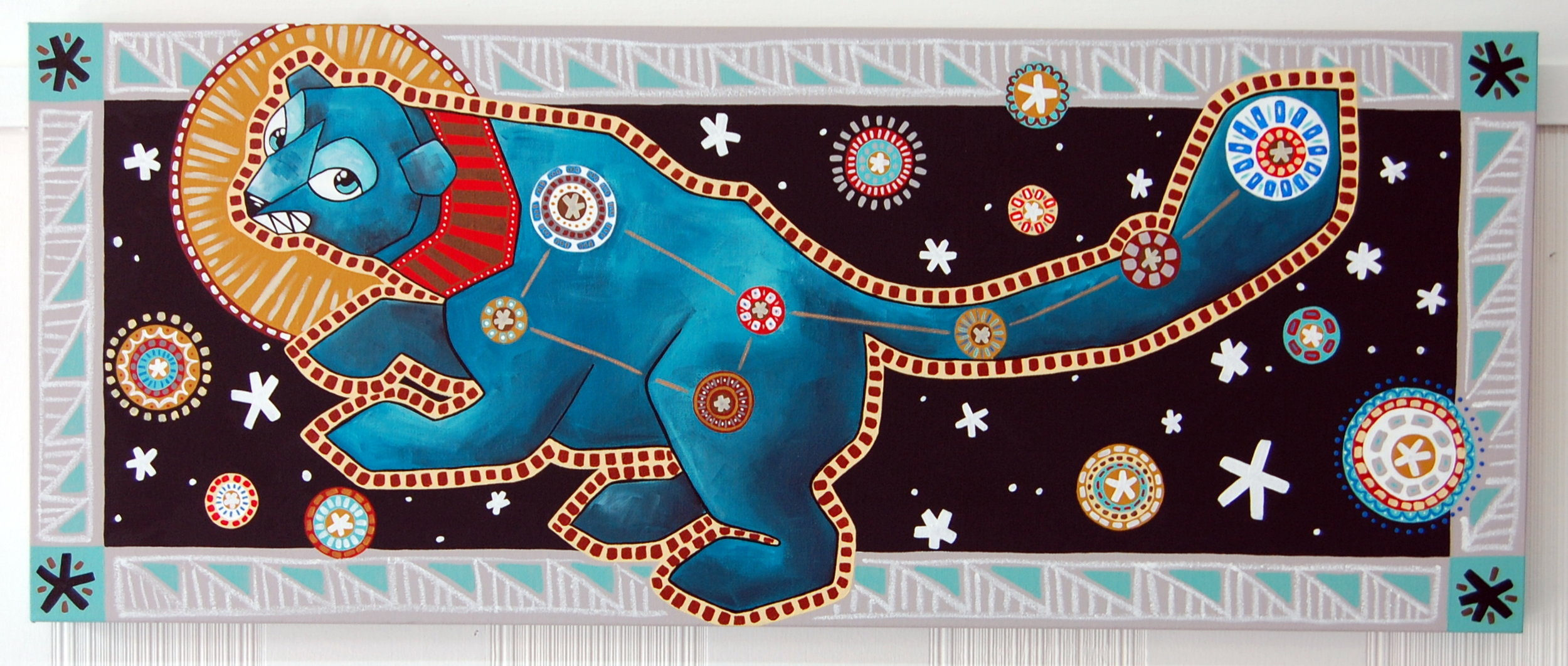 """Ursa Minor - The Little Dipper"" Acrylic on Canvas 18"" x 36"" // SOLD"