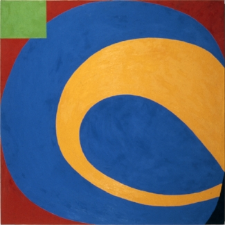 Rolling Ball,  1975–76, Oil on canvas, 60 x 60 in. (152.4 x 152.4 cm).  Collection of the Cincinnati Art Museum , Cincinnati, Ohio. Gift of RSM Co. (1984.242)