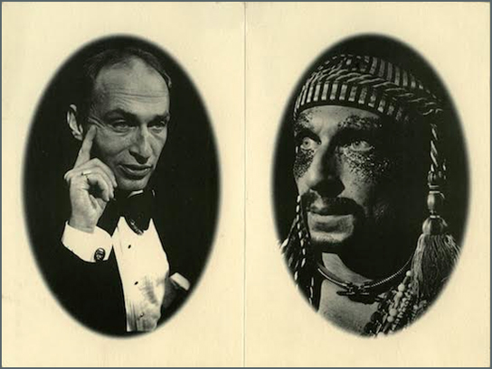 Ron Vawter playing dual roles in  Roy Cohn / Jack Smith . Photo courtesy HowlRound