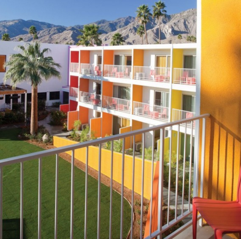 Saguaro Palm Springs, one of my favorite colorful places