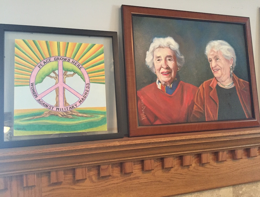 Portrait of Marianne Hamilton and Polly Mann, founders of WAMM.