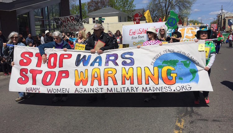 Stop Wars, Stop Warming at 2016 May Day Parade!