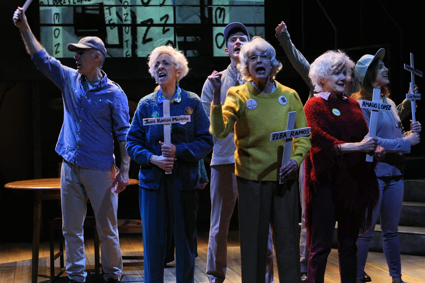 """Scene from """"Sisters of Peace"""" at History Theatre in St. Paul"""