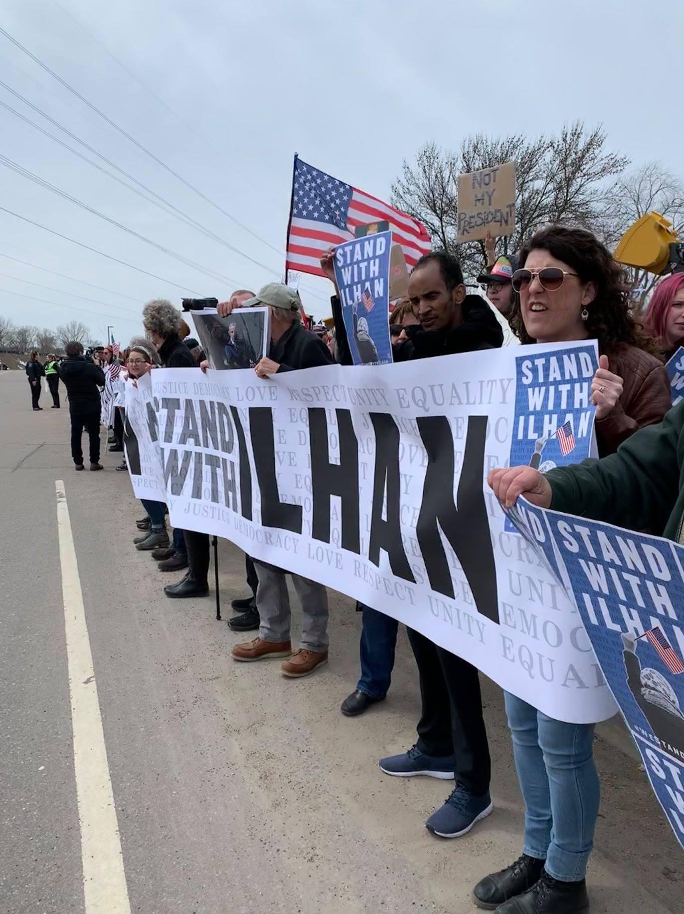 Anti-Trump rally in Burnsville 4/15/19