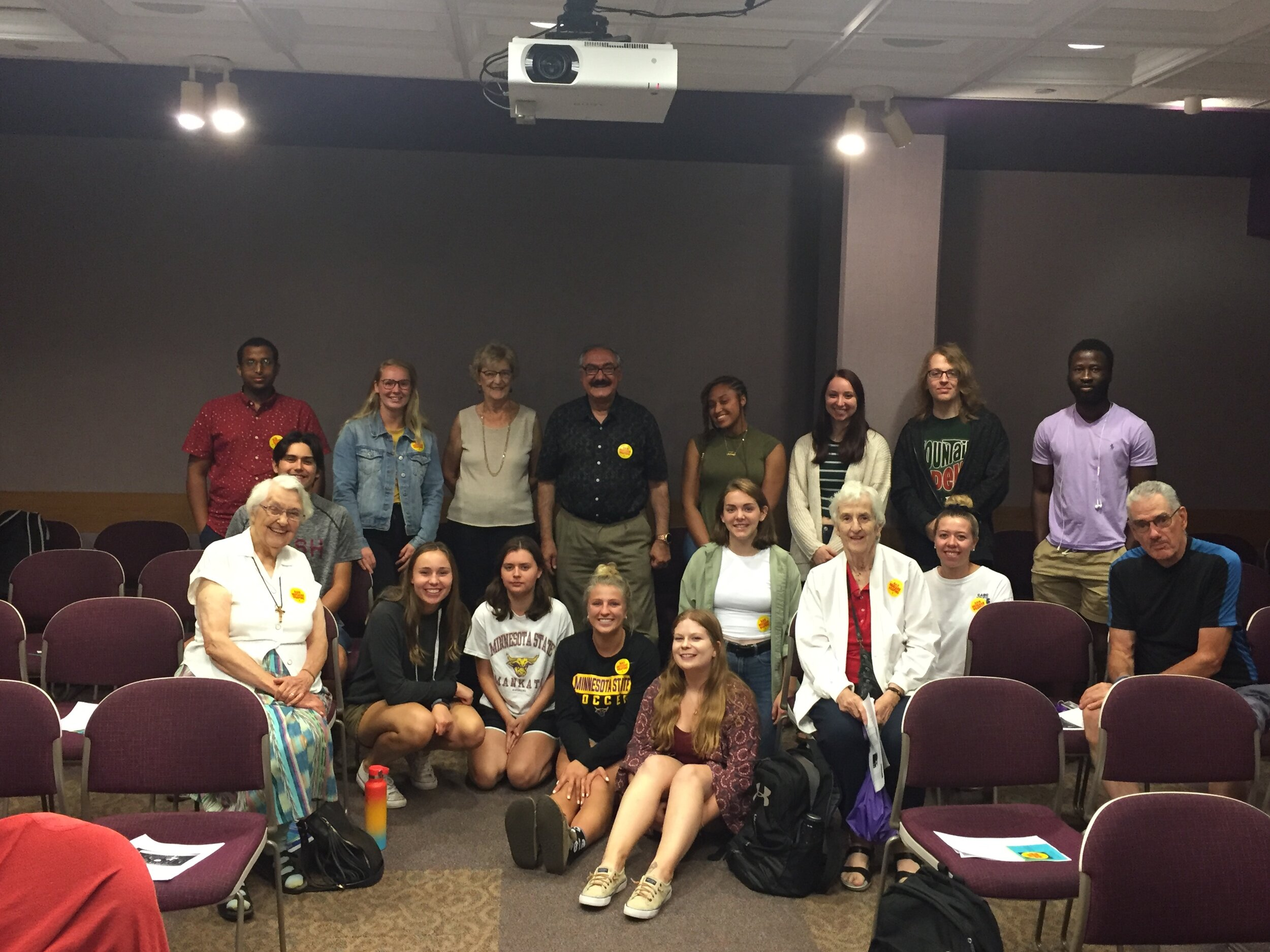 Sami Rasouli and Marie Braun plus students at Mankato State 9/25/19