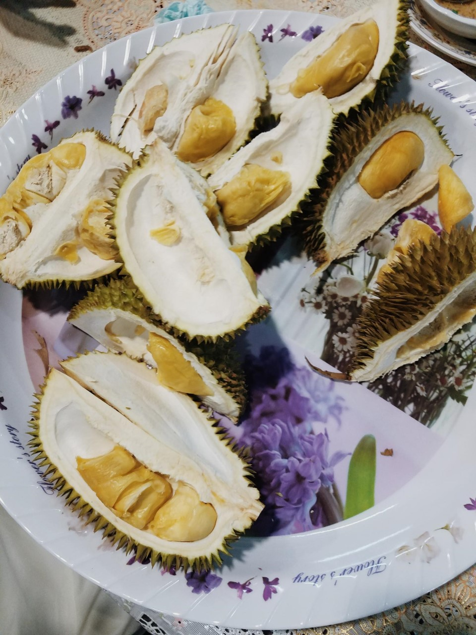 Inside of durian