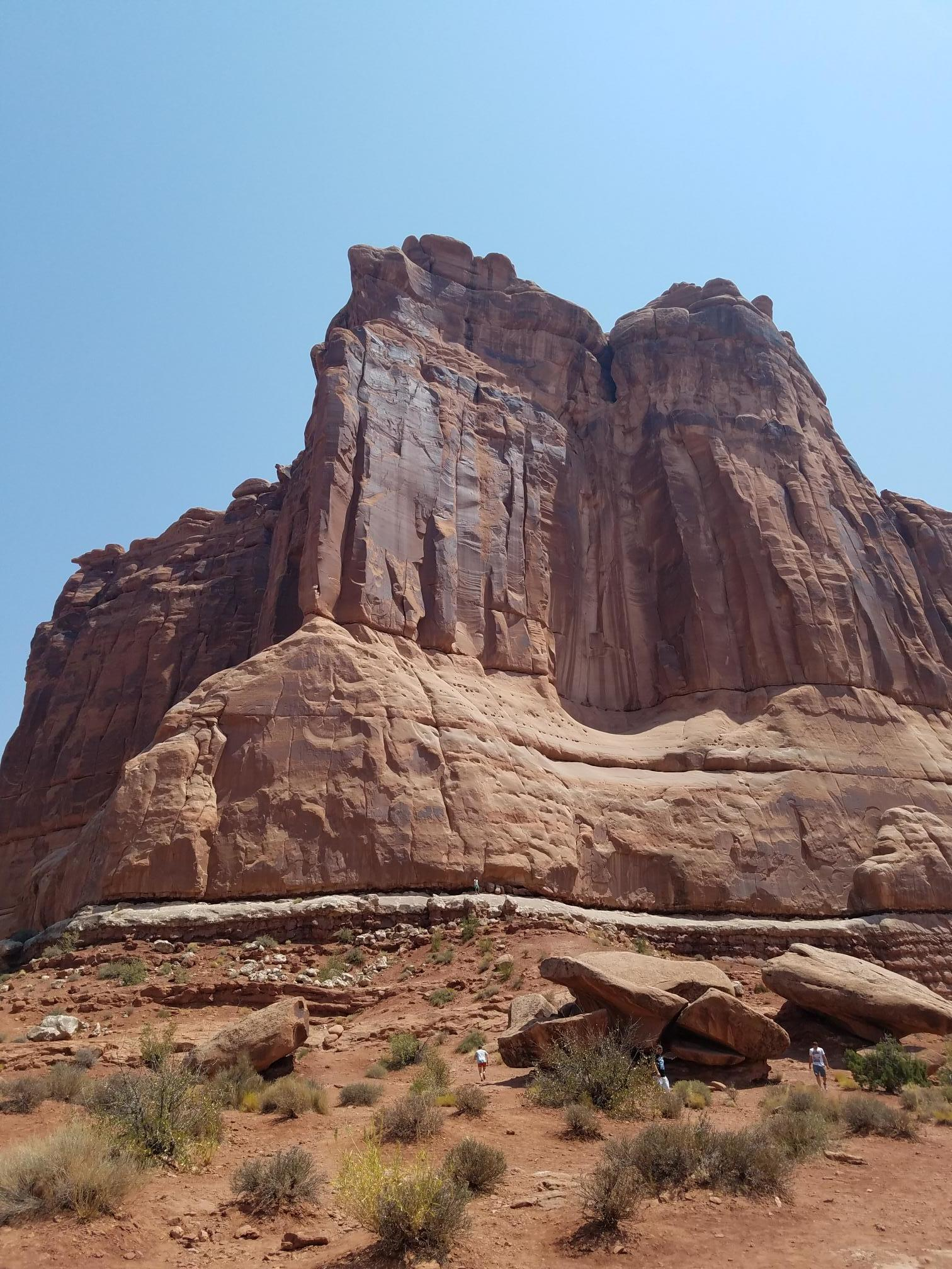Arches formations, look how tiny the people are!