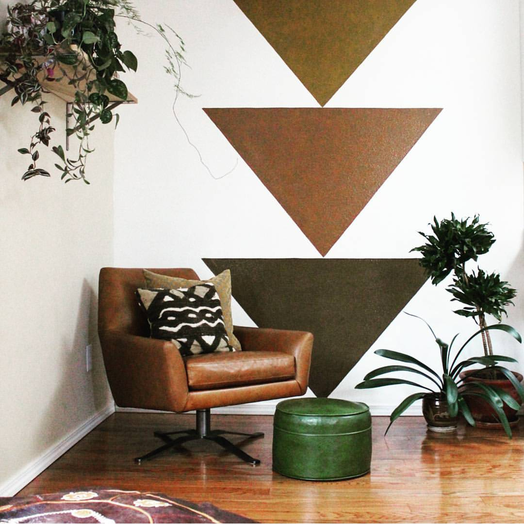 It doesn't get easier than this, these simple triangles really added a lot to this space.