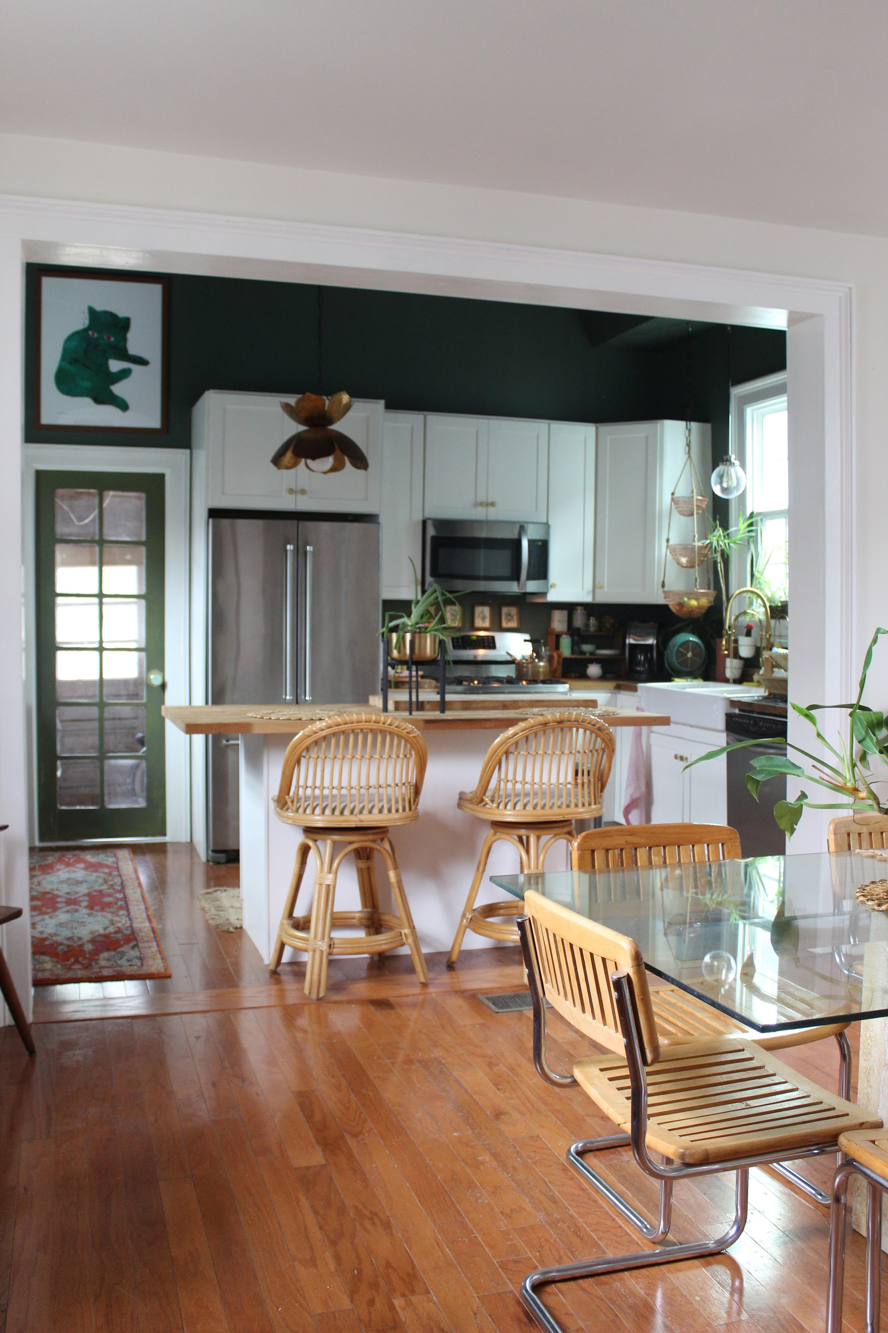 The dining room is open to the kitchen which is my favorite space in their home.