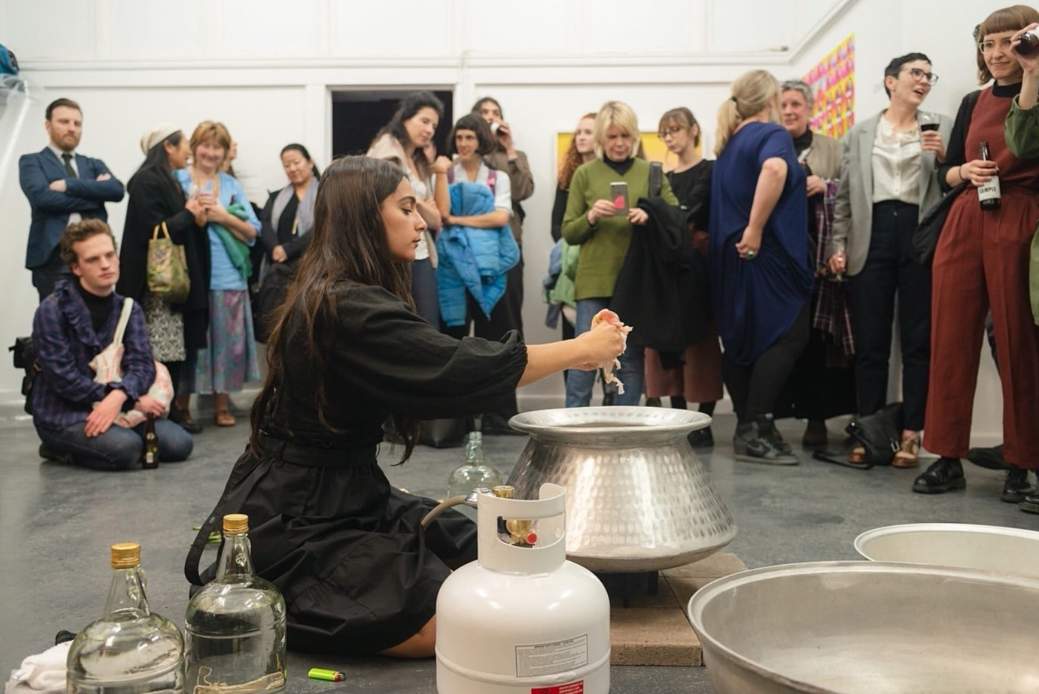 Justine Youssef  performing 'an other's Wurud' at BLINDSIDE Gallery in 2018. Photo: Keelan O Hehir | Courtesy the artist