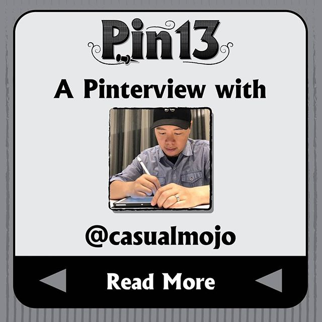 Today in the pinterview corner, I talk to @casualmojo a pin designer who is building a brand around a little robot dude named Mojo. If you have any other questions, feel free to ask in the comments! #pinterview #interview #pingame #enamelpins #pindesigner