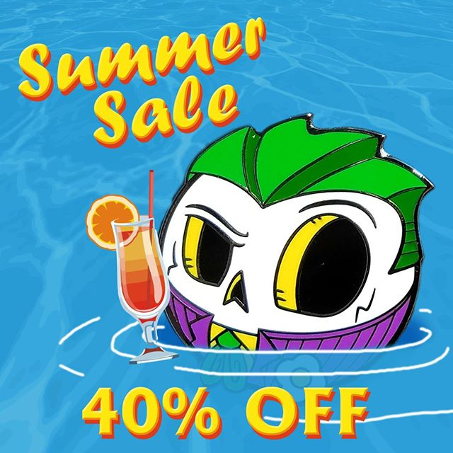 Chill like a Villain this summer by taking 40% off your entire purchase. Link In Bio #joker #summersale #jokerpics . . . . .  #Skullball #MrSkullball #pin13 #skullart #skull #skullpin #pin #pins #pingame #enamelpin #pinstagram #lapelpin #enamelpins #pingamestrong #pinlife #pinsofig #hatpins #pincollector #pincommunity #pinoftheday #pinhead #pincollection #pinnation