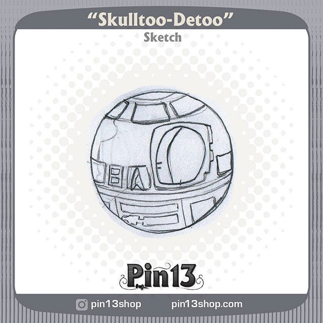 R2D2 was tough, I think once this one is all colored up the blue and whit would really help sell it. #starwars #starwarspin #r2d2  #Skullball #MrSkullball #pin13 #skullart #skull #skullpin #pin #pins #pingame #enamelpin #pinstagram #lapelpin #lapelpins #enamelpins #pinlife #pinsofig #pincommunity #pinhead #pinnation #pindesign #sketch #wip