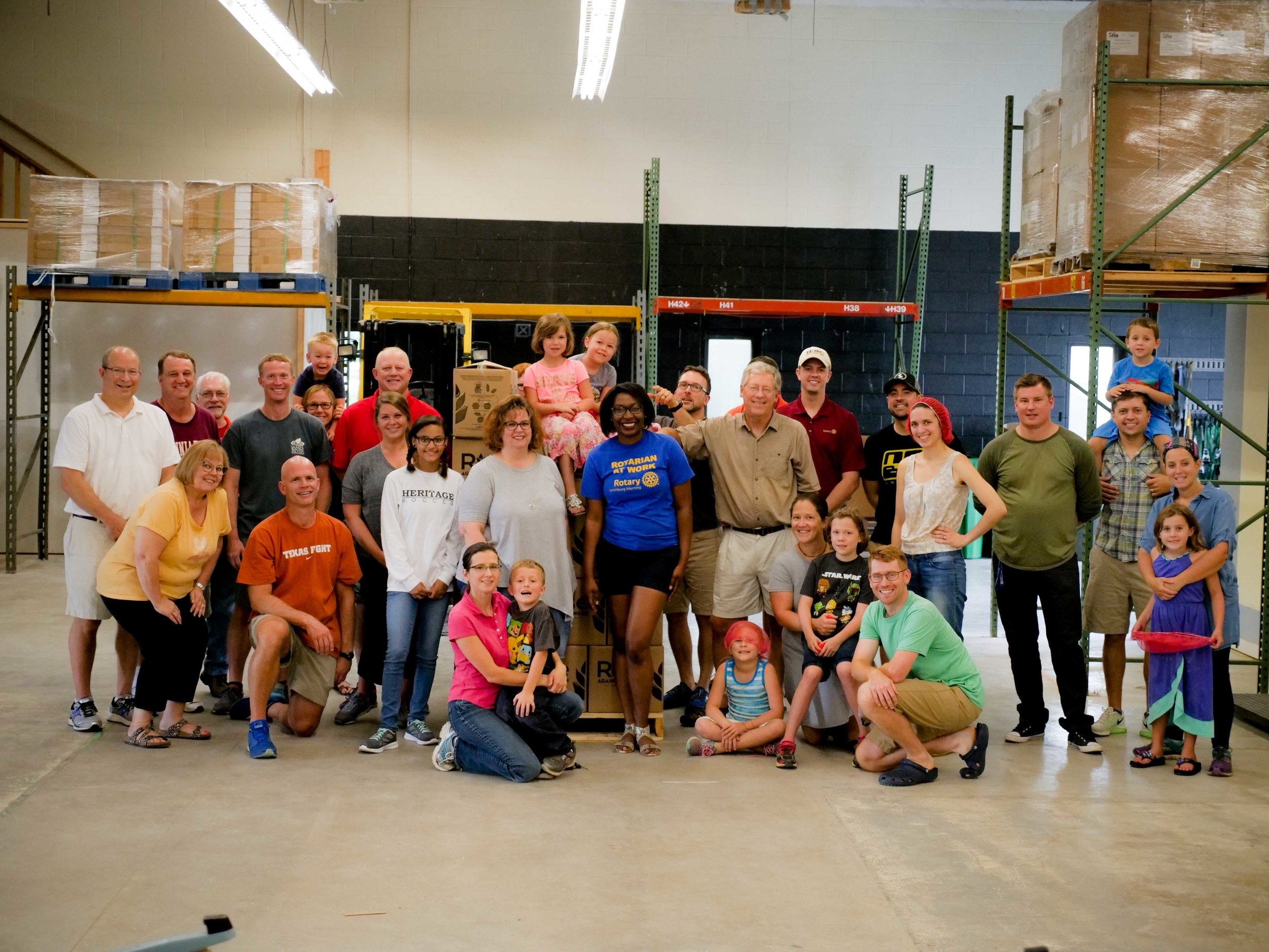 Largest service project in club history at Rise Against Hunger this summer. Over 10,000 meals were packaged and sent to Haiti Outreach Ministries.