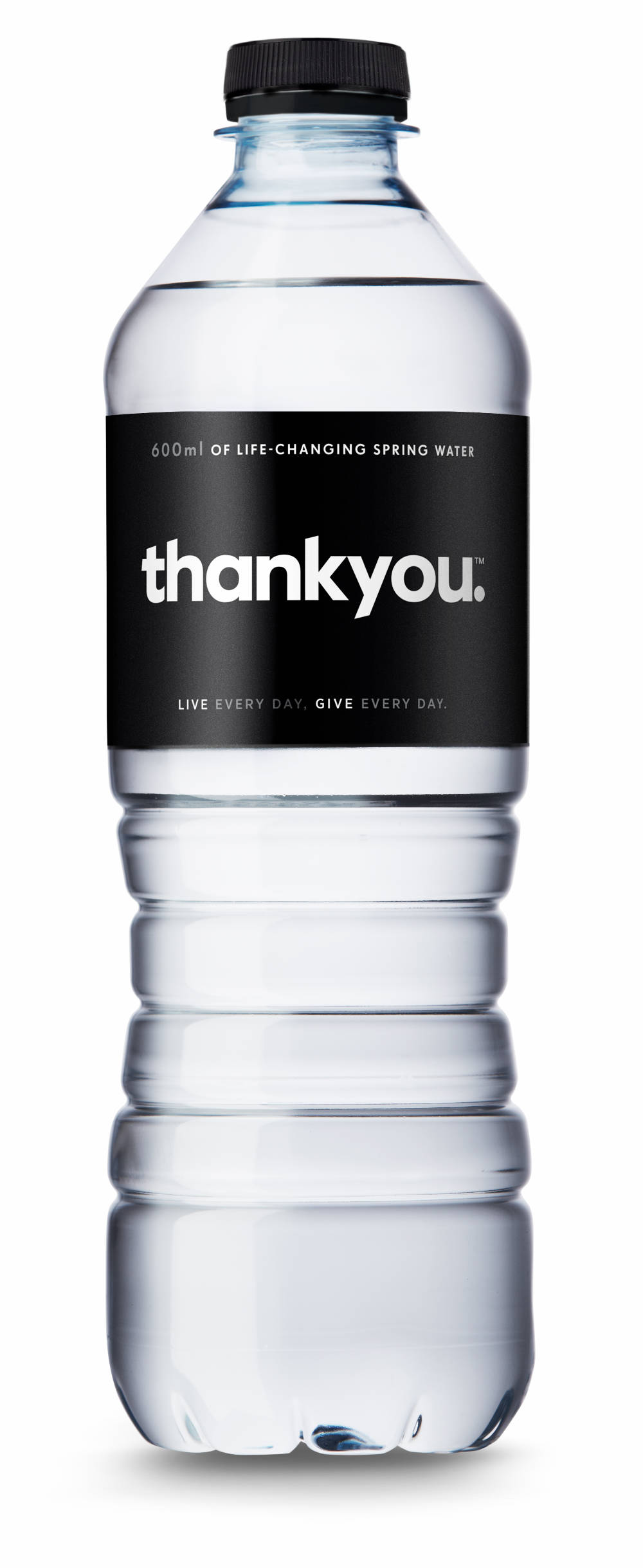 Thankyou's first product was bottled water.  Source: Wesley Rodricks,  Thankyou  media kit