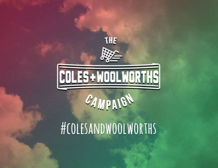 Thankyou's Coles and Woolworths campaign in July 2013. Source:  Thankyou blog