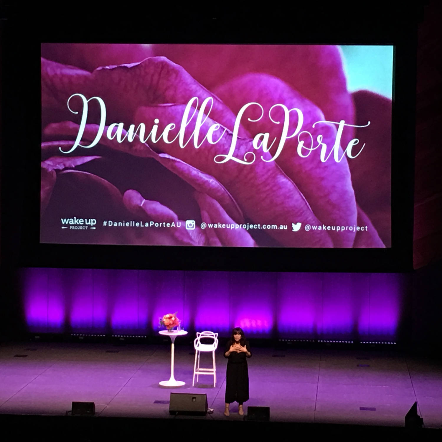 Danielle LaPorte speaking in Melbourne on 23 Feb 2017. Photo: Jade Tjia