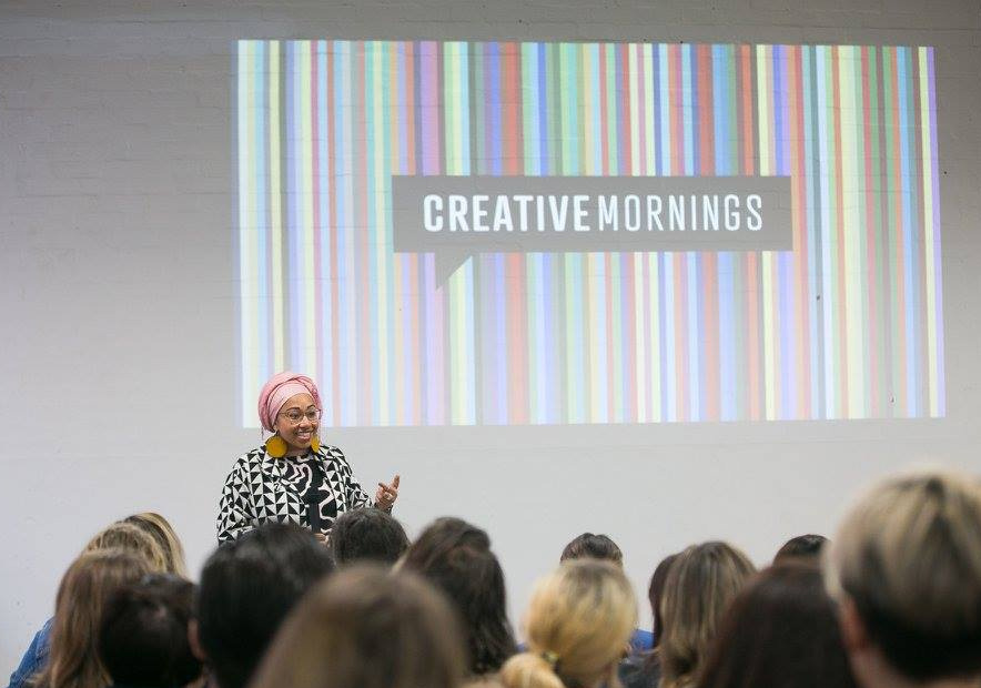 Yassmin Abdel-Magied speaking at  Creative Mornings Melbourne on 25 August 2017. Photo by  Mark Lobo Photography .