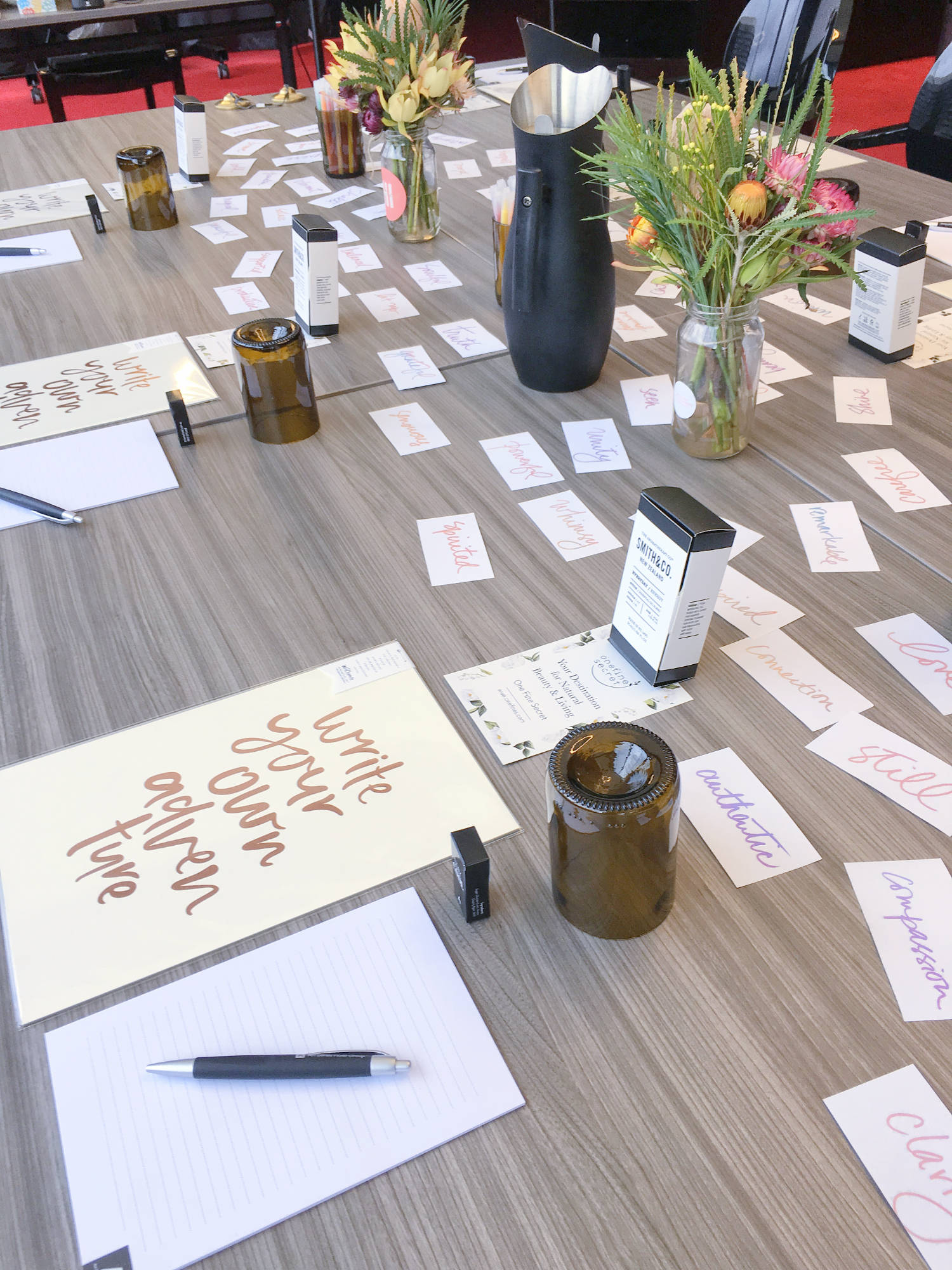 On the second day of the  Inspired and Intentional  urban retreat guests took home an essential oil blend from  One Fine Secret  and an art print by  Emma Kate Co.  Photo by Jade Tjia, 19 August 2017.