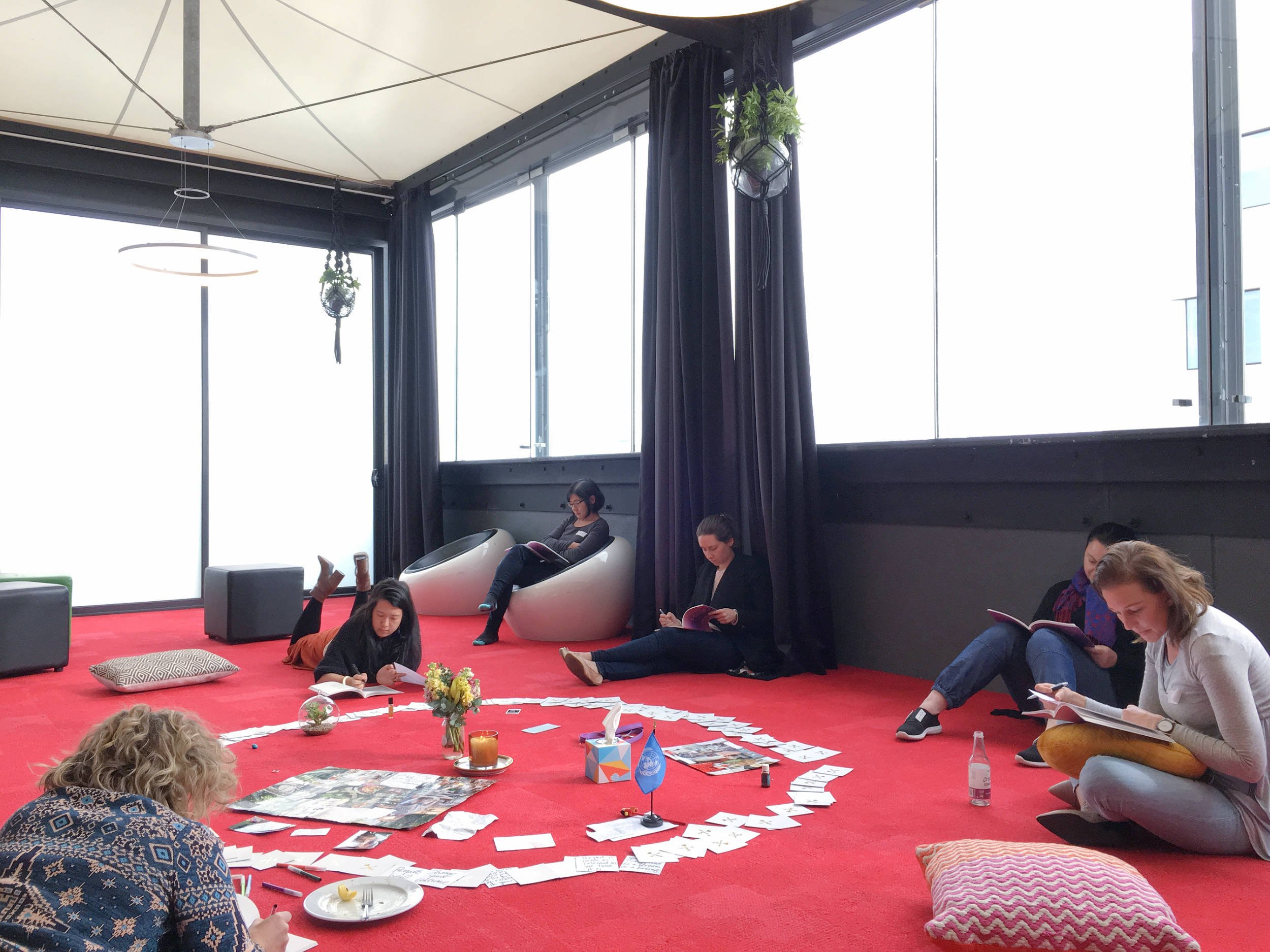 The spacious and light-filled rooftop venue for the  Inspired and Intentional  urban retreat...plenty of room to spread out in whatever way was comfortable! Photo by Jade Tjia, 12 August 2017.