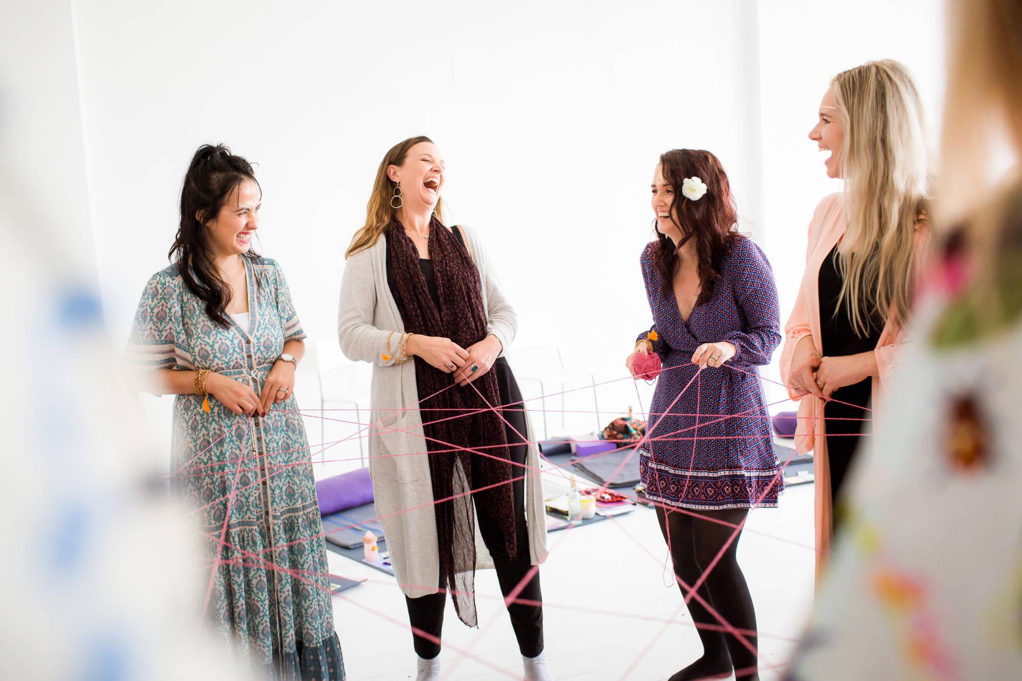 Image:  Fi Mims Photography  at a women's circle training held by  Sora Surya No