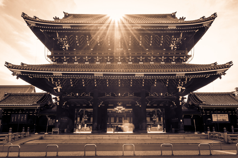 HIGASHI HONGANJI TEMPLE ENTRANCE