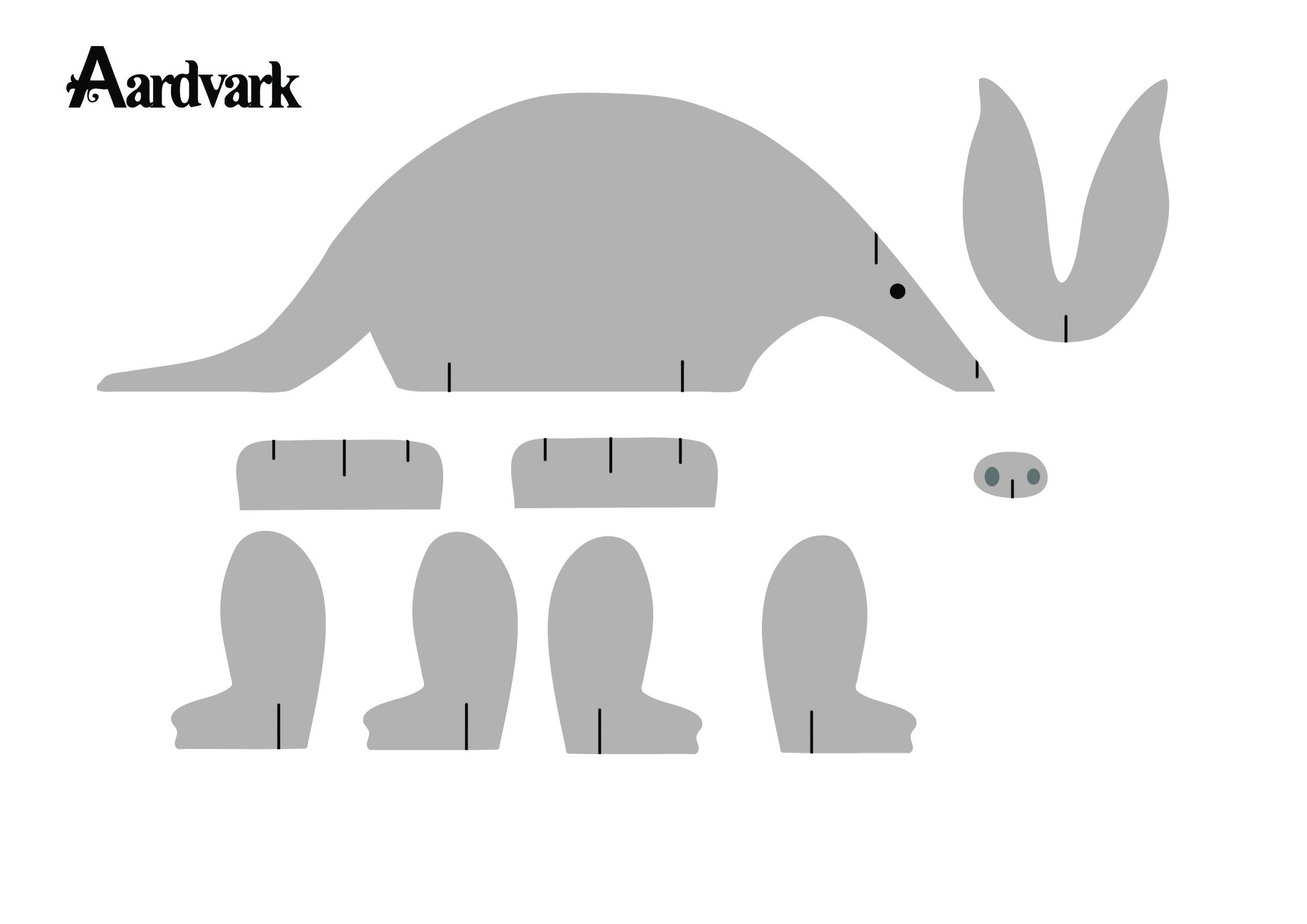 aardvark cutout model.JPG