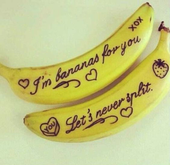 LET YOU BE BANANAS ABOUT YOU! Image via Pinterest.