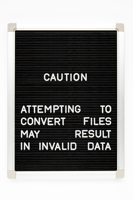 caution attempting to convert files may result in invalid data copy.jpg