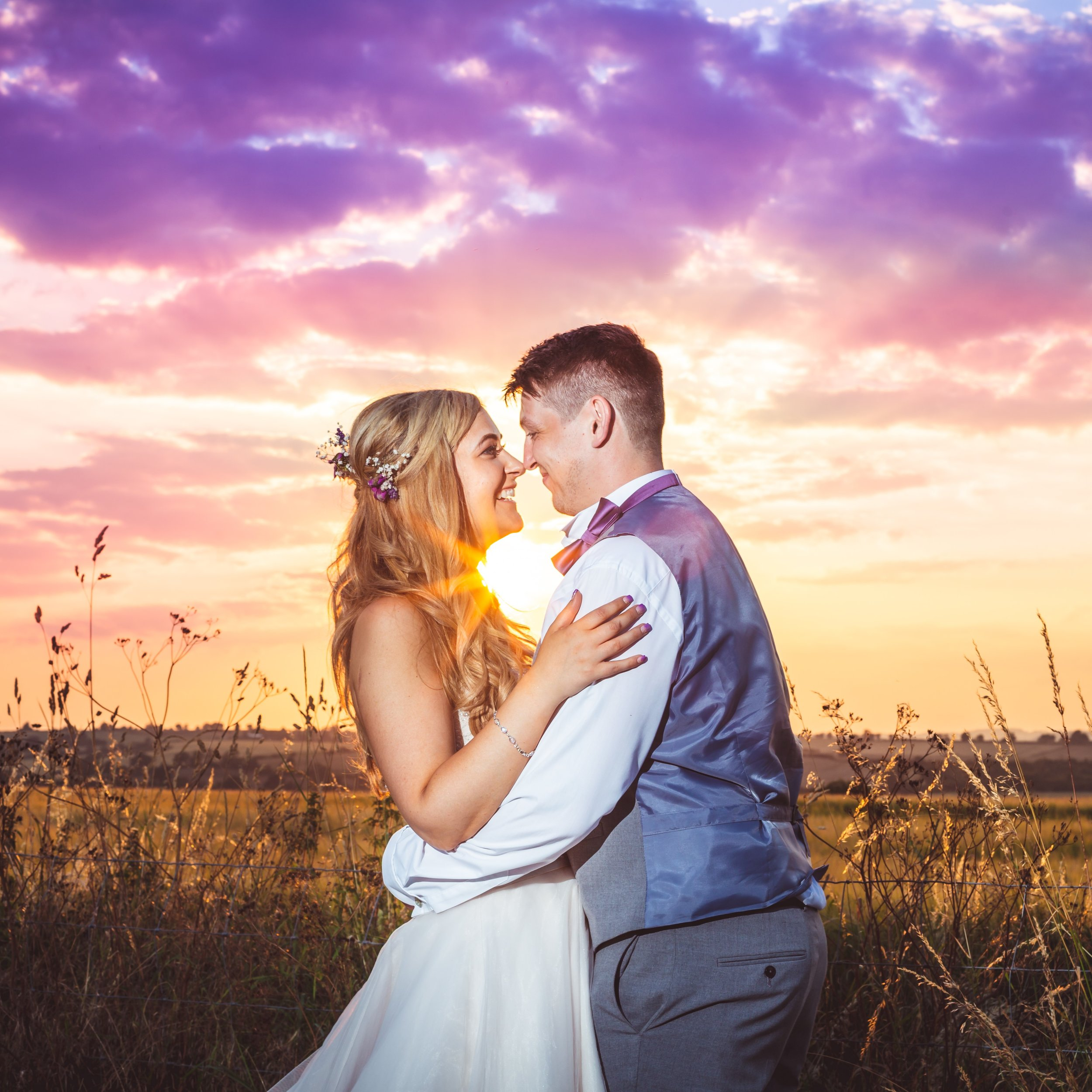 Sunset, bride and groom, Fotovida wedding photography, creative photography, best wedding photographers in Northamptonshire, Leicestershire, Rutland, excellent reviews, Sara Mayer, Douglas Mayer