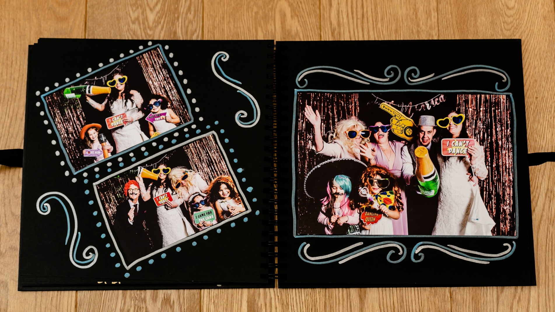 Photobooth album inside pages