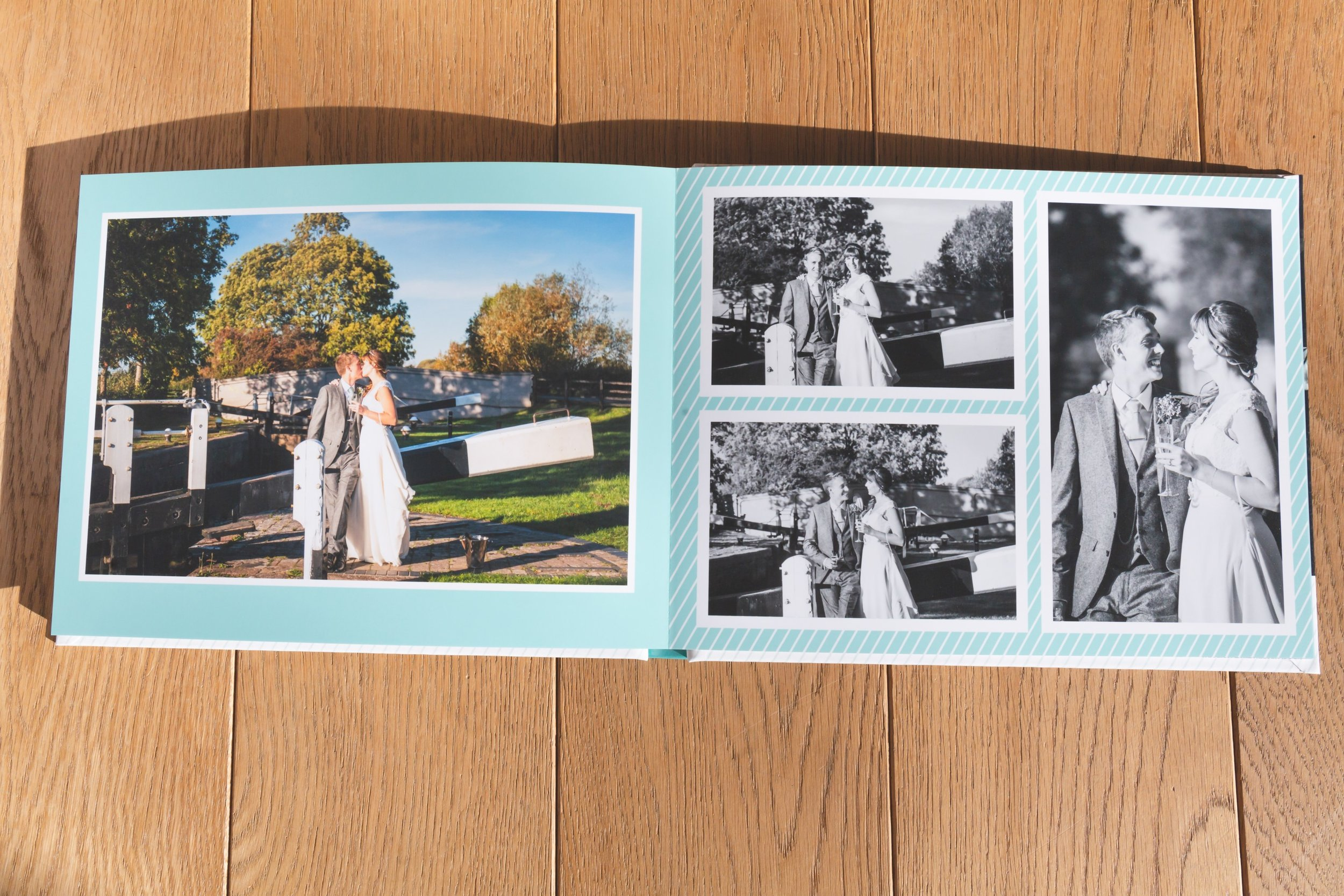 Another inside view of wedding album, Fotovida