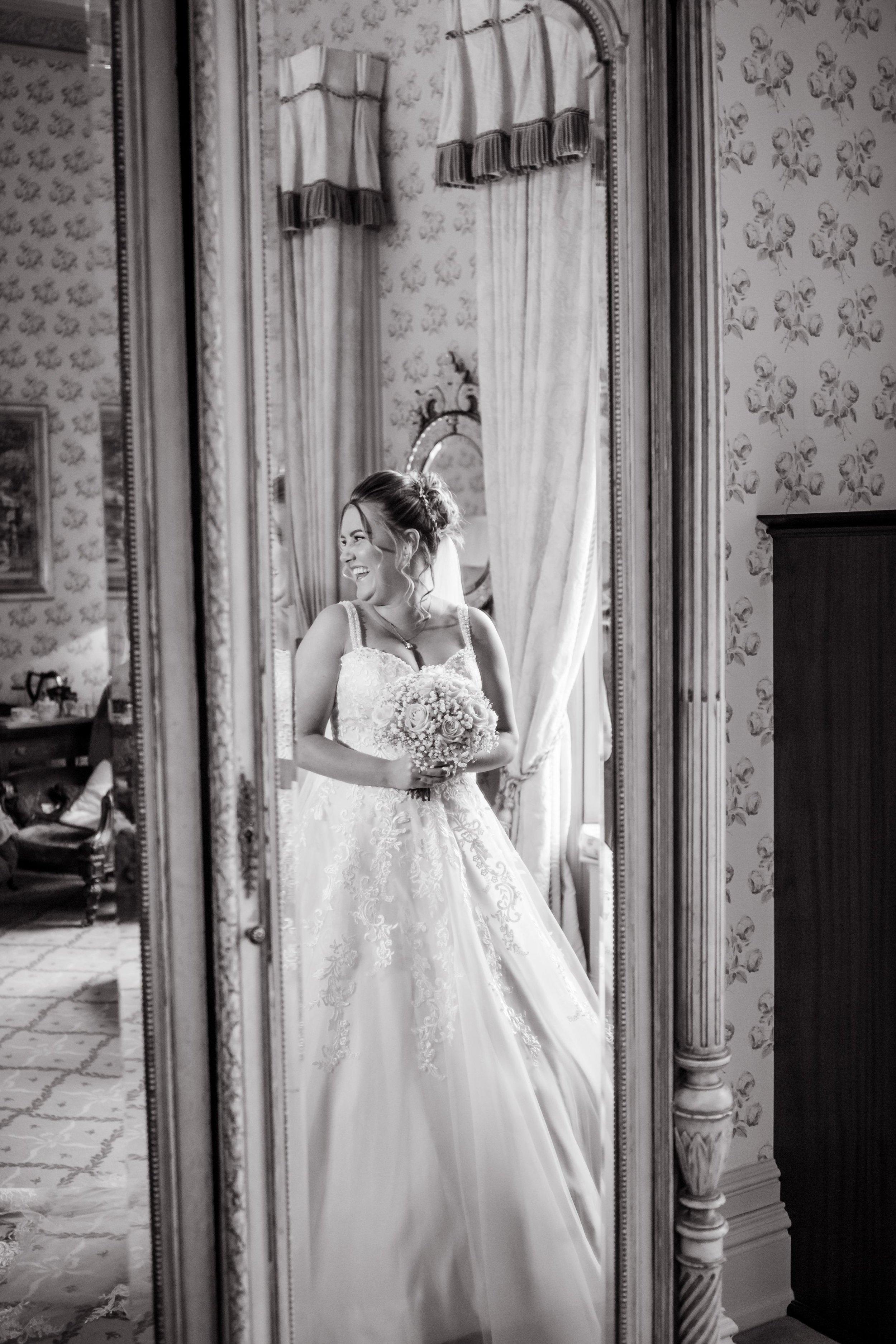 Bride's reflection