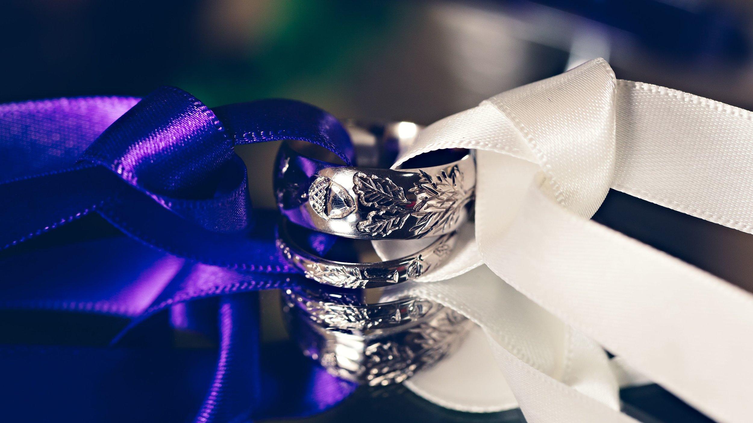 Oak themed rings