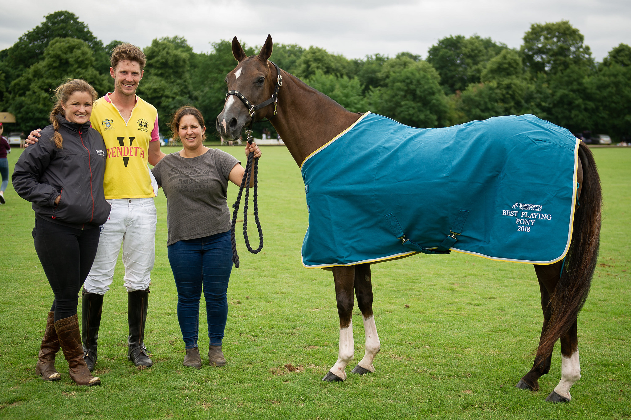 Best playing pony award was presented by Blackdown Equine Clinic and was won by Honey ridden by Jimmy Wood.
