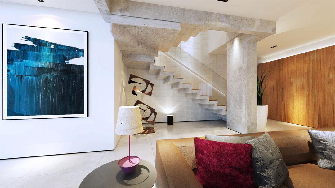 macroarq_arquitetura_projeto_interiores_sorocaba_cobertura_sala_de_estar_ampla_painel_de_madeira_escada_de_concreto.jpg